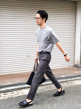 URBAN RESEARCH DOORS|エグチさんの「DOORS Tight Fit Trouser(URBAN RESEARCH DOORS MENS)」を使ったコーディネート