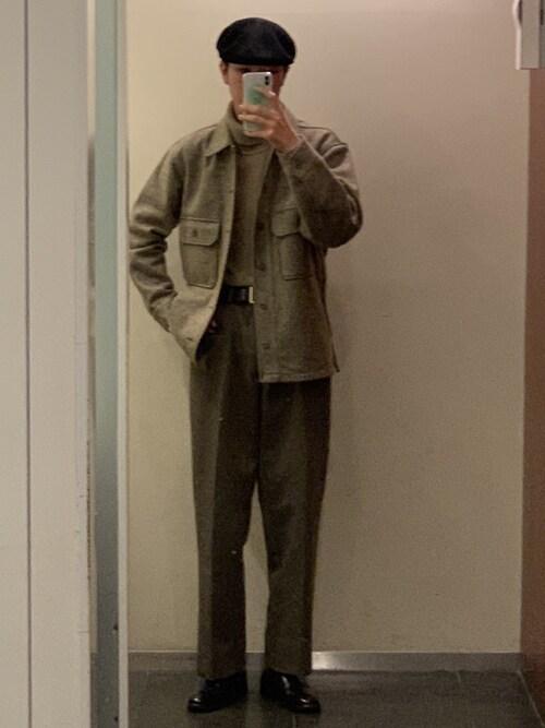 なかじーさんの「フリースシャツジャケット(長袖)(ユニクロ)」を使ったコーディネート