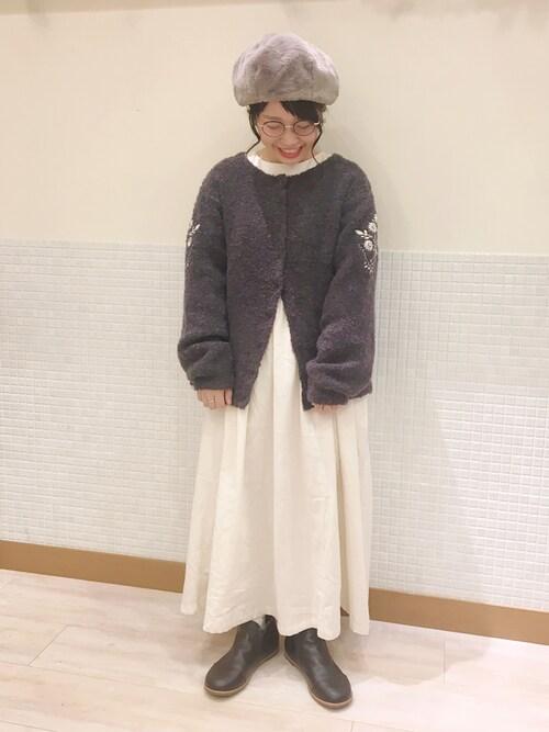 SM2 keittio ララポート磐田む ら ま つさんのブーツ「レザーサイドゴアブーツ(Samansa Mos2|サマンサ モスモス)」を使ったコーディネート