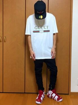 85b4c1d1c818 GUCCI(グッチ)のTシャツ・カットソーを使ったメンズコーディネート一覧 ...