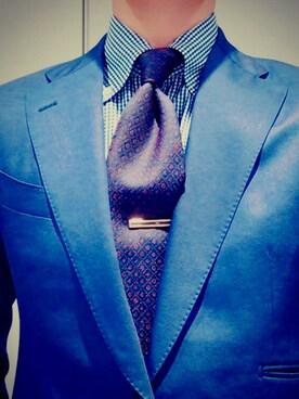 11494a52e53e Bvlgari(ブルガリ)のスーツ/ネクタイを使ったコーディネート一覧(季節 ...