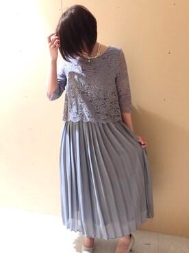 f9021275aba8e SMILE ORCHID 北千住マルイ店|Aya.Nさんのドレス「レースプリーツ