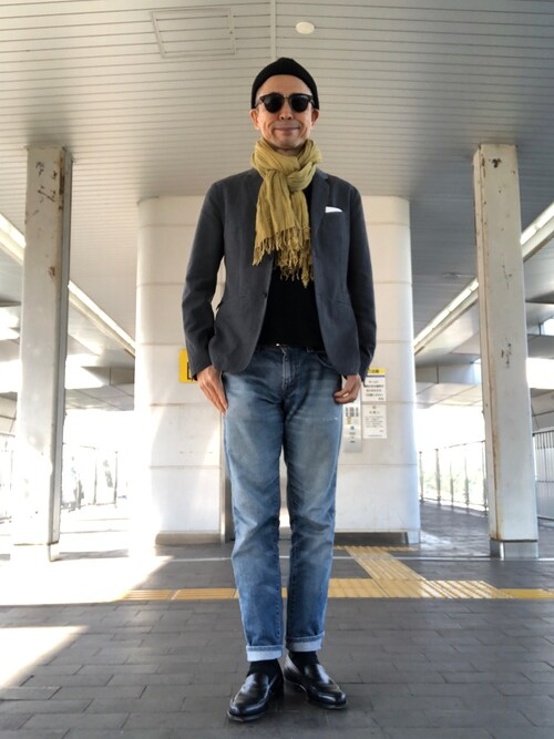 Paulさんの「WOOL LINEN GABERDINE(MARGARET HOWELL)」を使ったコーディネート