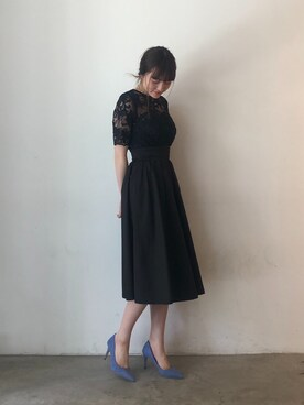 b3577d837ef80 LAGUNAMOON|藤井まりなさんの「LADYオーバーレースギャザードレス(LAGUNAMOON|ラグナ