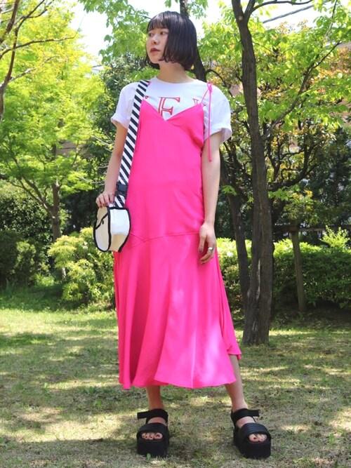 SEINA HOSOURAさんの「CAMI DRESS(k3&co)」を使ったコーディネート