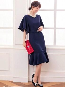 3b924b39b55bf DRESS STAR(ドレス スター)の「ベルト付きフレアスリーブマーメイド ...