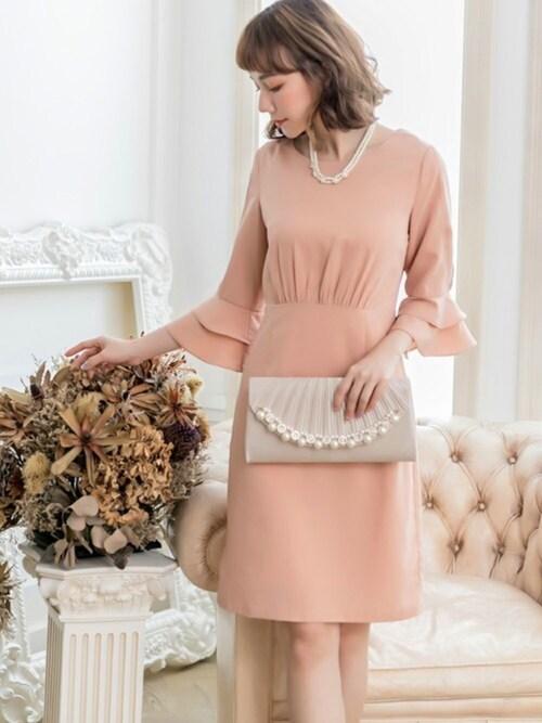 DRESSSTARDRESS STARさんのドレス「入学式にも使えるラッフル袖シンプルパーティードレス(DRESS STAR ドレス スター)」を使ったコーディネート