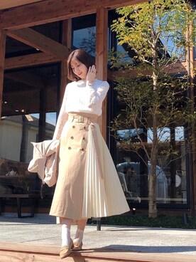 39c1b01e9b6fa MEW S REFINED CLOTHES(ミューズ リファインド クローズ)のシャツ・ブラウスを使ったコーディネート一覧 - WEAR