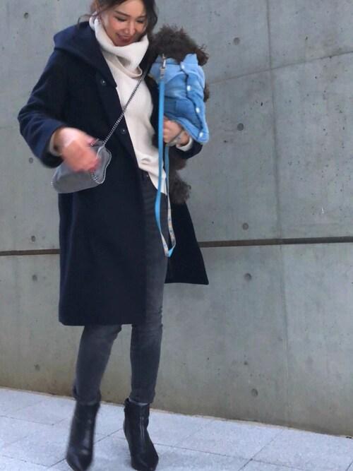 Ameri★さんのブーツ「美脚ポインテッドトゥのショートブーツ(SESTO|セスト)」を使ったコーディネート