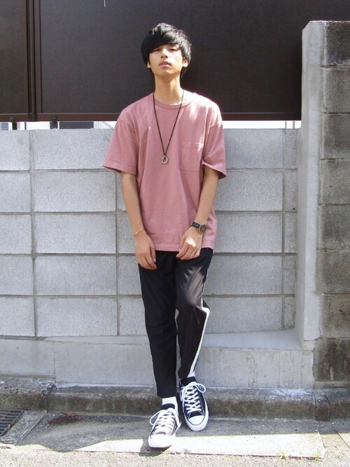 RYO.さんの「【ZOZO限定】STUDIOUS ガーメントダイビッグTシャツ(STUDIOUS)」を使ったコーディネート