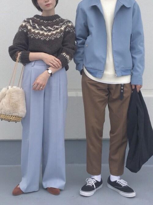WHO'S WHO gallery 大阪店Ryutaro.さんのスニーカー「VANS ヴァンズ VN-0EE3BLK AUTHENTIC BLACK(VANS|バンズ)」を使ったコーディネート