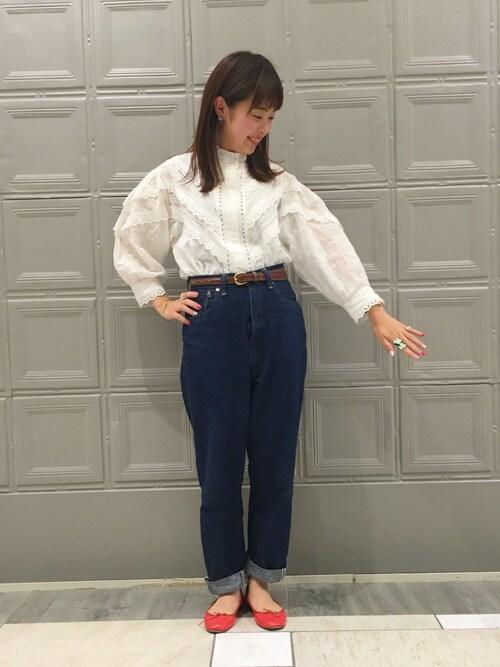 ビームス 横浜東口takita mikiさんのデニムパンツ「orSlow × BEAMS BOY / 別注 Monroe Pants Special(BEAMS BOY|ビームスボーイ)」を使ったコーディネート