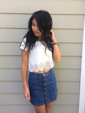 Thuong Nguyen is wearing FOREVER 21