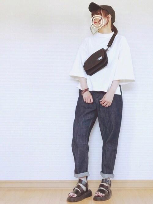 sweet_candyさんのTシャツ/カットソー「裾スリット&折り返し七分袖カットソーブラウス(classicalelf|クラシカルエルフ)」を使ったコーディネート