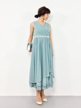 4830ebcf0575a RINAさんの「結婚式お呼ばれロング丈ドレープ素敵なワンピース(MARLENE JOBERT