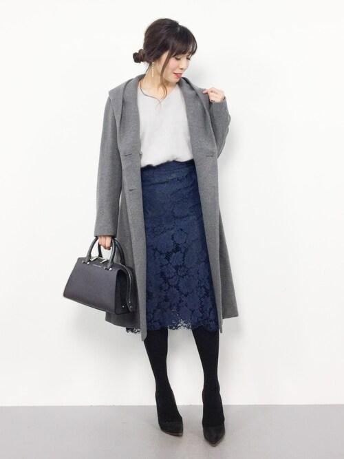 ZOZOTOWNRINAさんのスカート「カラーレーススカート◆(SLOBE IENA|スローブイエナ)」を使ったコーディネート