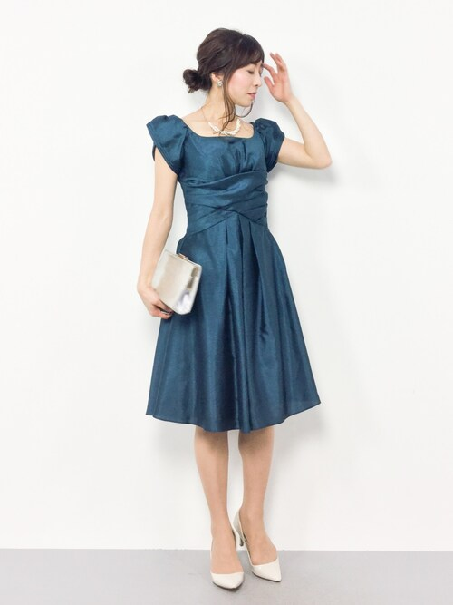 ZOZOTOWNRINAさんのドレス「スタイル美人ワンピースドレス/結婚式・お呼ばれ対応フォーマルパーティードレス(RUIRUE BOUTIQUE|ルイルエブティック)」を使ったコーディネート