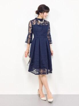 be104f98d5f49 ZOZOTOWN|RINAさんのドレス「クチュールレースリボンワンピースドレス(RUIRUE BOUTIQUE|