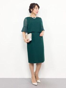 4f98ad529ef19 ZOZOTOWN|RINAさんのドレス「 WEB限定商品 シフォン5分袖