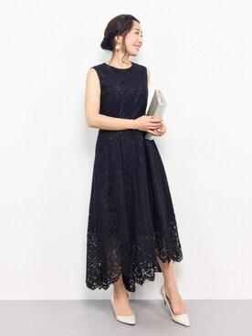 d7dde07dcff50 ZOZOTOWN RINAさんのドレス「総レースノースリーブイレヘムロング結婚式ワンピース
