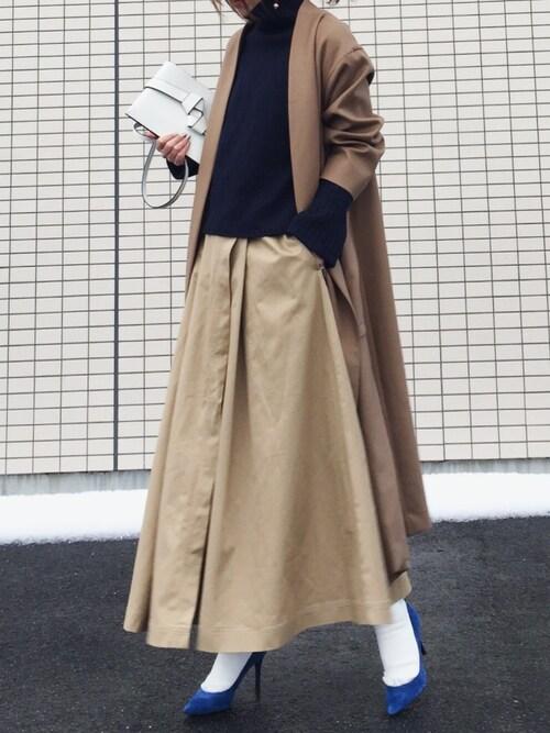 #2 ロングスカート×パンプスのコーデ