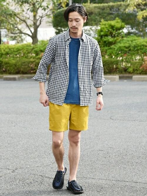 安本さんの「SC:【WEB限定】コットン/リネン レギュラーカラー 7スリーブシャツ(SHIPS)」を使ったコーディネート