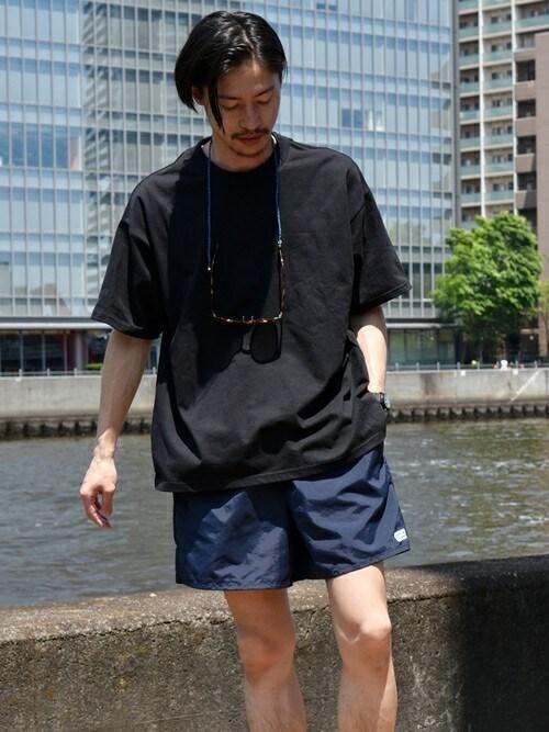 安本さんの「SU:【GOAT】 Tシャツ(SHIPS)」を使ったコーディネート