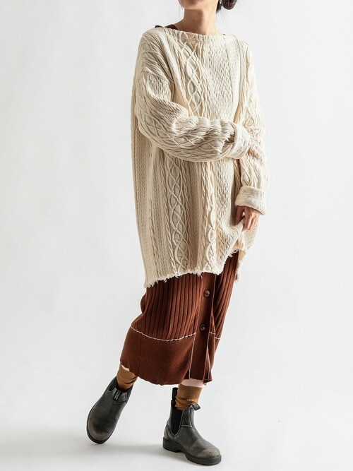 CIAO PANIC COUNTRY MALLさんの「HAKUJI / CASHMERE COTTON OP(HAKUJI)」を使ったコーディネート