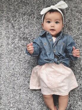 a5eed81dcbda0 シャツ・ブラウスを使った「赤ちゃん」のコーディネート一覧 - WEAR