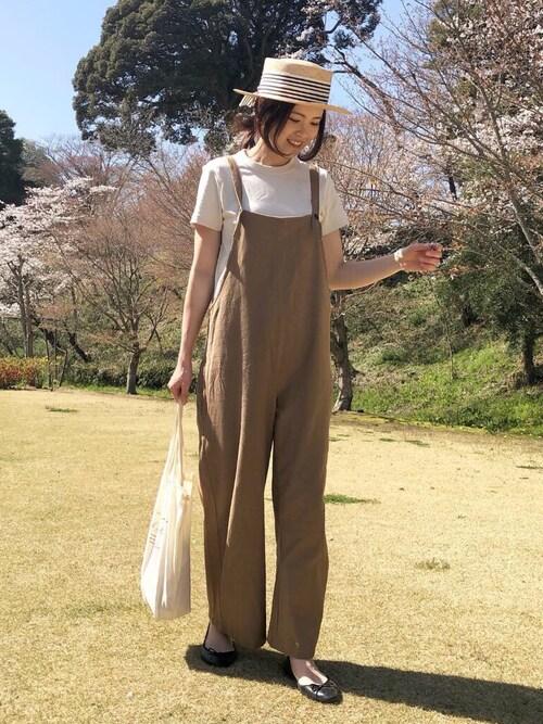 mikiteeさんのバレエシューズ「《2020春夏新色追加!》セミスクエアトゥフラットリボンバレエシューズ(AmiAmi|アミアミ)」を使ったコーディネート