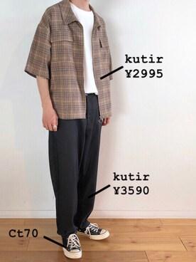 713278bb9151d K zukiさんの「リングジップシャツブルゾン ハーフスリーブ(kutir|クティール