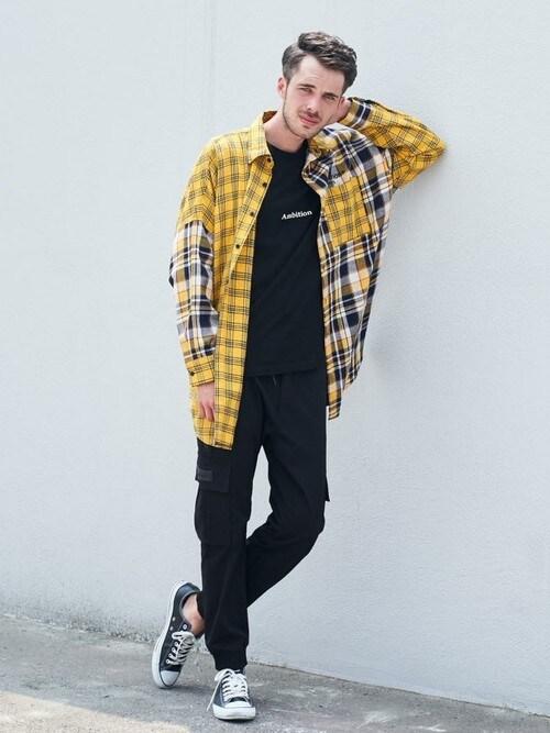 JACKROSE  OFFICIALJACKROSE OFFICIALさんのシャツ/ブラウス「GA・BIGクレイジーシャツ(GALLIS ADDICTION ガリスアディクション)」を使ったコーディネート