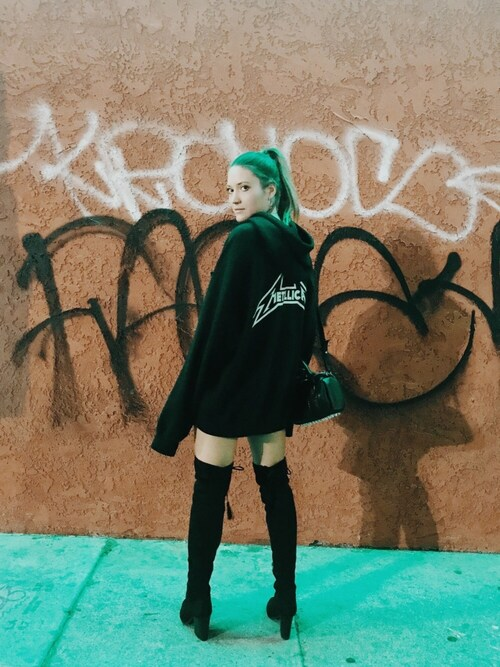 Bethany Marie is wearing Fear of God Los Angeles