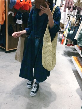 "hhanah  is wearing Urban Outfitters ""Urban Outfitters Slouchy Straw Tote Bag"""