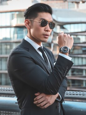 998cada28fba スーツ/ネクタイを使った「RAYBAN」のコーディネート一覧 - WEAR