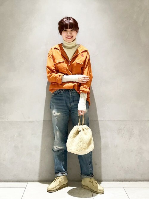 BEAMS BOYさんの「CLARKS / Wallabee Boot(BEAMS BOY)」を使ったコーディネート