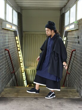 "しょいらす is wearing Edwina Horl ""【Edwina Horl】 cotton polyester watch cap limit edition"""