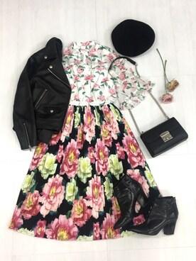 15f8bfa03d5a4 Million Carats Web Store|Million miiiさんの「flower mixワンピース DRESS ドレス