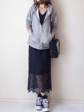 まるちわさんの「カラーレースタイトスカート(SENSE OF PLACE by URBAN