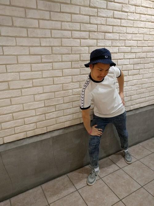 FRED PERRY 札幌ステラプレイスYUKI HAMAGUCHIさんのTシャツ/カットソー「Taped Ringer T-Shirt(FRED PERRY|フレッドペリー)」を使ったコーディネート