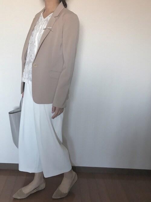 ユニクロ入園式ママコーデ