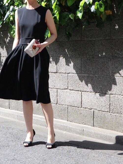結婚式 黒ドレス コーデ