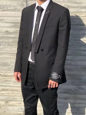 buy popular 91843 3ed3e スーツ/ネクタイを使った「ディオールオム」のコーディネート ...