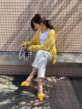コーデ 黄色 カーディガン 黄色カーディガンのおすすめコーディネート13選|大人に似合う黄色を着こなす!