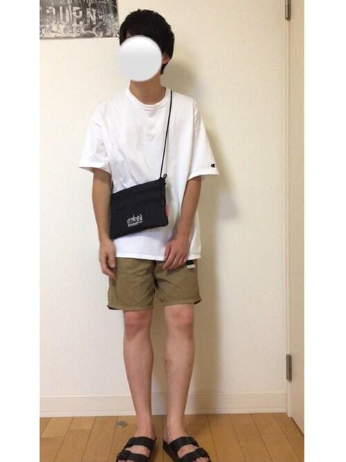 kazさんの「【Champion/チャンピオン】HERITAGETシャツ(Champion)」を使ったコーディネート