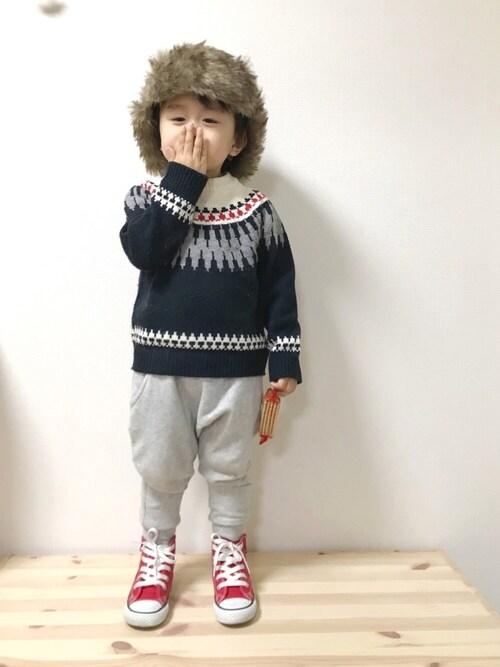 kyomomoさんのスニーカー「CONVERSE / CHILD ALL STAR N Z HI(CONVERSE|コンバース)」を使ったコーディネート
