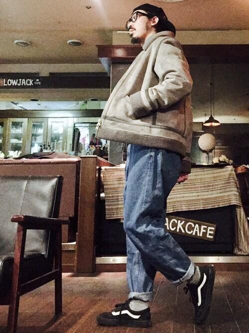 MasaakiOoueさんのムートンコート「フェイクムートンB3(CIAOPANIC|チャオパニック)」を使ったコーディネート