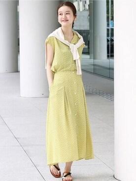 3245ff4c870fa9 IENA銀座店(Le Dome)|endoさんのスカート「フェザープリントスカート