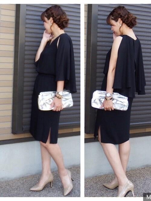 結婚式 服装 黒コーデ