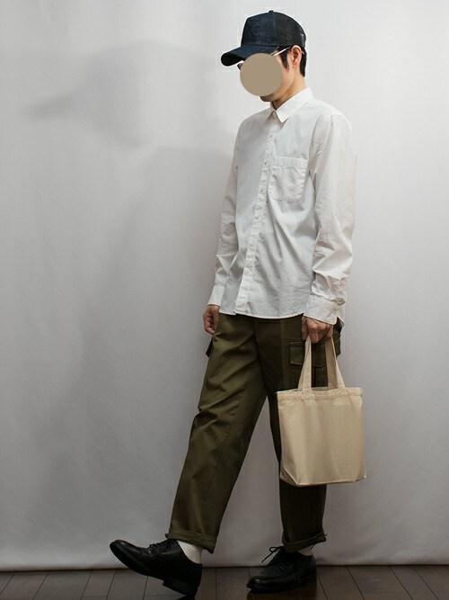 トーマス_Dさんの「超長綿洗いざらしブロードシャツ(無印良品)」を使ったコーディネート